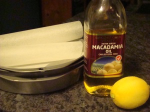 Macadamia oil lemon baking