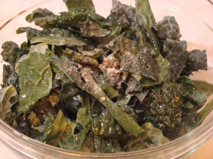 Kale salt and pepper