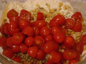 Tomato muffin ingredients